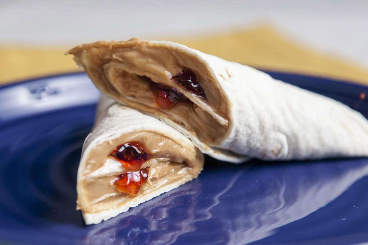 Nutella and Jam Wraps